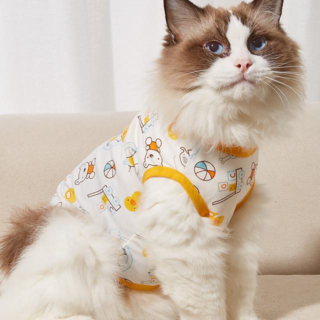 كلاب T-skjorte سترة دب سيارة أساسي بديع لطيف مناسب للبس اليومي كاجوال / يومي ملابس الكلاب ملابس الجرو ملابس الكلب متنفس أصفر أحمر برتقالي كوستيوم للفتاة والفتى الكلب قطن XS S M L XL