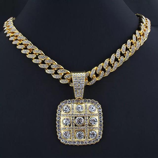 رجالي عقد الارتباط الكوبي شائع سبيكة ذهبي 55 cm قلادة مجوهرات من أجل شارع حفلة عيد ميلاد