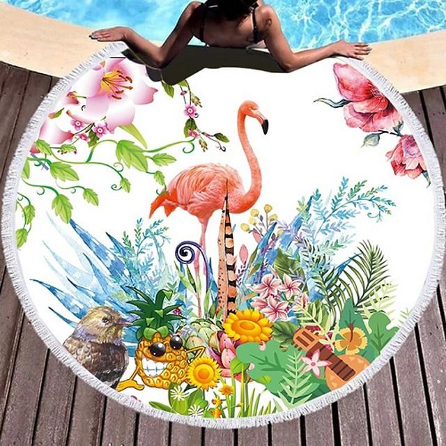 نسائي فوط الشاطئ ملابس السباحة شرابة طباعة ألوان متناوبة حيوان أبيض أحمر أخضر داكن فوشيا أخضر ملابس السباحة بدلة سباحة جديد أنيق العطلة
