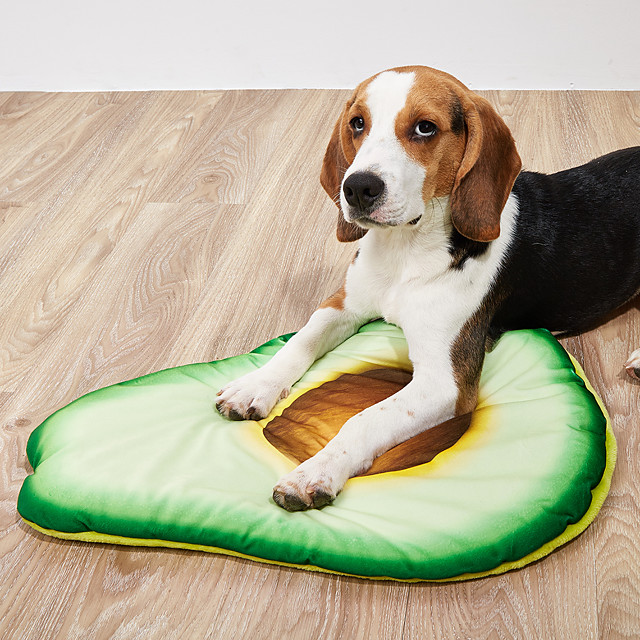 Dog Cat Pets Cat Beds Dog Bed Mat Pet Sleeping Nest Avocado Portable Foldable Washable Dual-use Mat Nylon for Large Medium Small Dogs and Cats