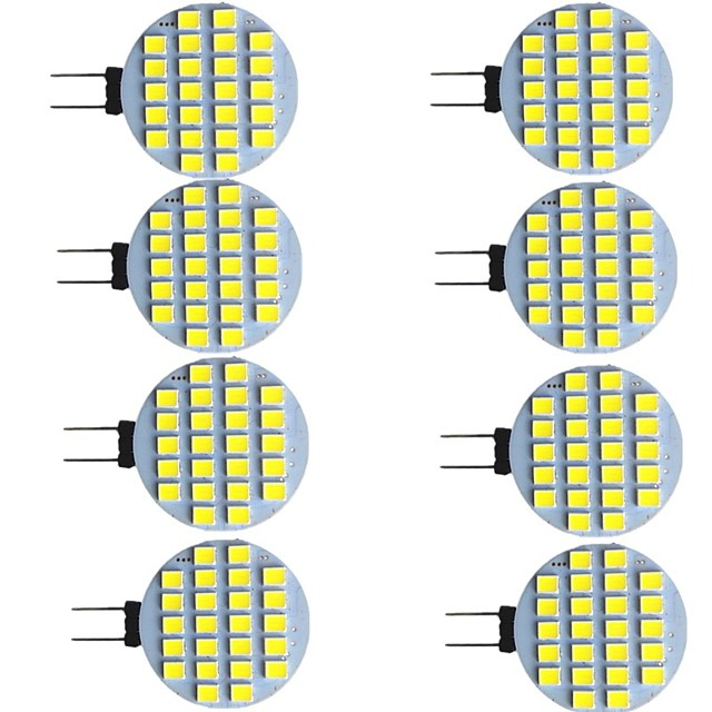 8 pièces 2 W LED à Double Broches 280 lm G4 24 Perles LED SMD 2835 Blanc Chaud Blanc 9-30 V