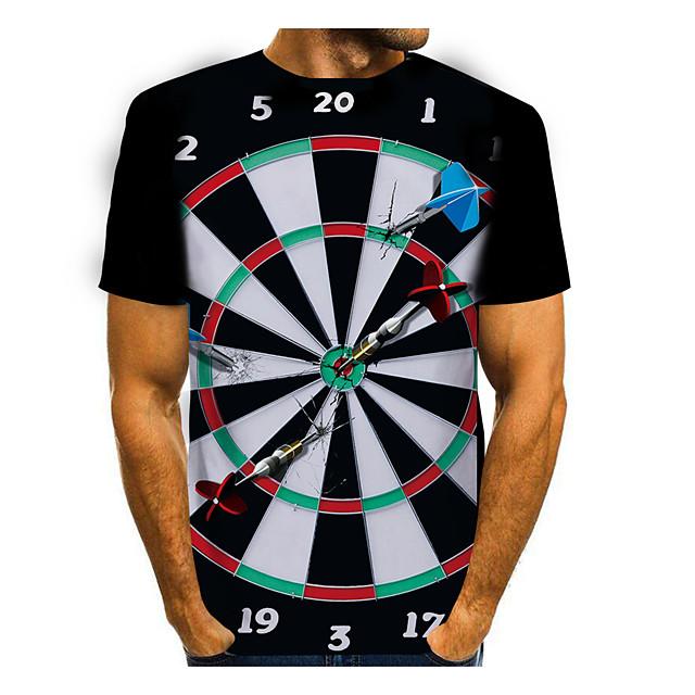 Homme T-shirt Impression 3D Graphique 3D 3D Imprimé Manches Courtes Quotidien Hauts Simple Blanche Noir Rouge