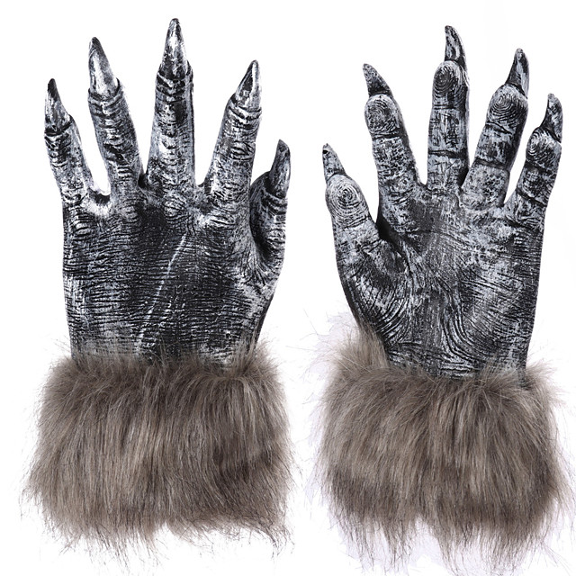 Animal Gloves Masquerade Adults' Women's Cosplay Vintage Inspired Party Masquerade Halloween Carnival Easter Festival / Holiday Glue Gray Women's Men's Easy Carnival Costumes Animal