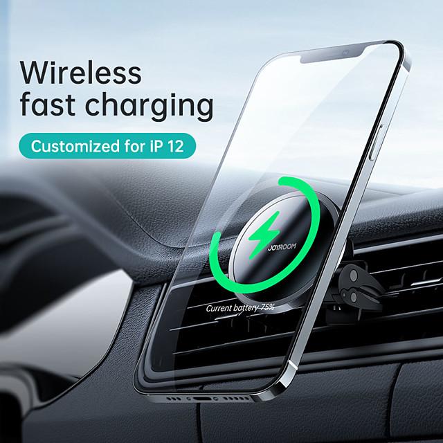 Joyroom jr-zs240 support de voiture de charge sans fil magnétique support de téléphone portable dans la voiture support de sortie d'air support de support de téléphone