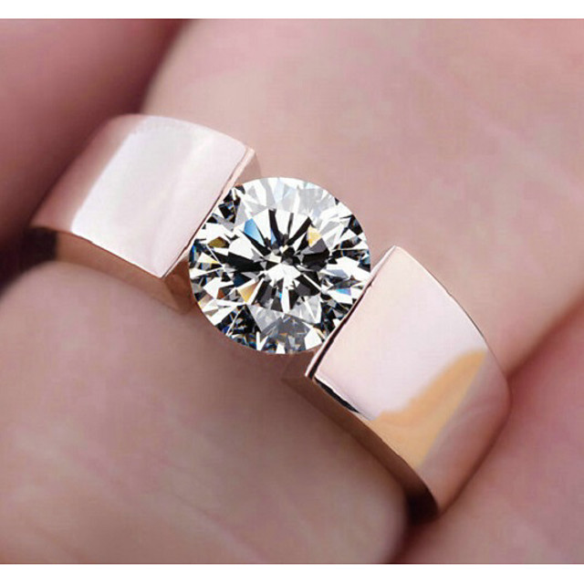 Ring Classic Rose Gold Silver Copper Simple Classic 5 6 7 8 9
