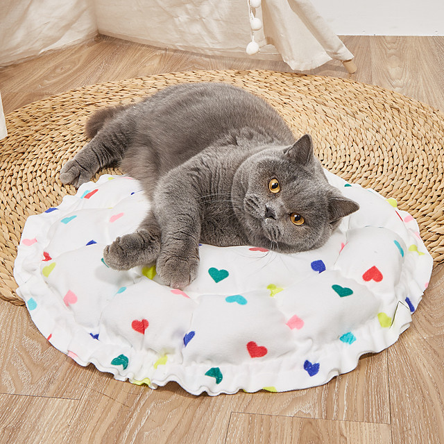 Dog Cat Pets Cat Beds Dog Bed Mat Pet Sleeping Nest Heart Pumpkin Shaped Portable Foldable Washable Dual-use Mat Nylon for Large Medium Small Dogs and Cats