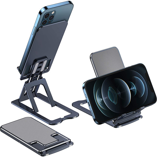 Accroche Support Téléphone Lit Bureau Téléphone Portable Support Ajustable Support de bureau pour téléphone Ajustable Métal Accessoire de Téléphone iPhone 12 11 Pro Xs Xs Max Xr X 8 Samsung Glaxy S21