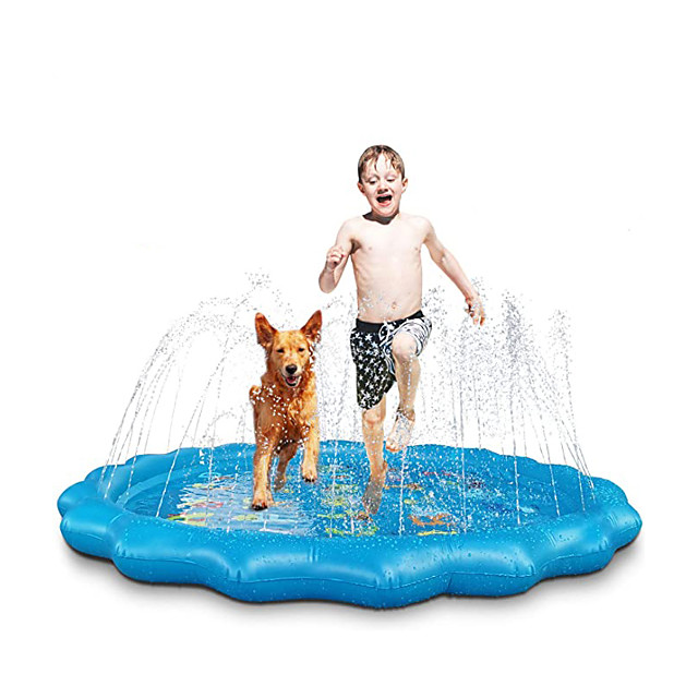 Sprinkle Splash Play Mat Inflatable Splash Pad Sprinkler PVC / Vinyl Letter Water fun Outdoor Summer 68 Inch Boys and Girls Kid's
