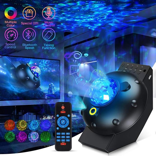 Lampe Projecteur Etoile Galaxie SC522-01 Télécommande avec haut-parleur de musique Bluetooth Projecteur de ciel étoilé Soirée Cadeau Intérieur Couleur aléatoire