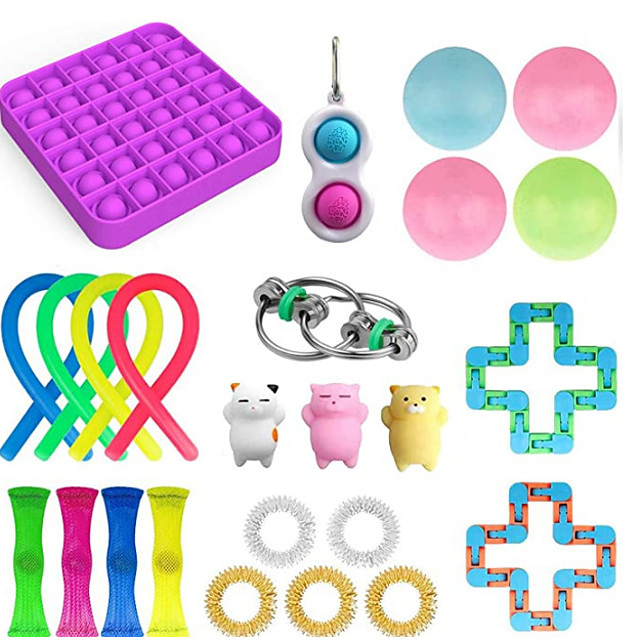 Squishy Toy Squeeze Toy / Sensory Toy Jumbo Squishies Sensory Fidget Toy Stress Reliever 25 pcs Mini Creative Cat Claw Bean Transformable Cute Stress and Anxiety Relief Fun Decompression Toys Slow