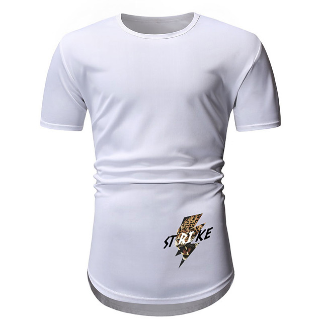 Men's T shirt Hot Stamping Graphic Prints Letter Print Short Sleeve Daily Tops Casual Fashion White Wine Army Green