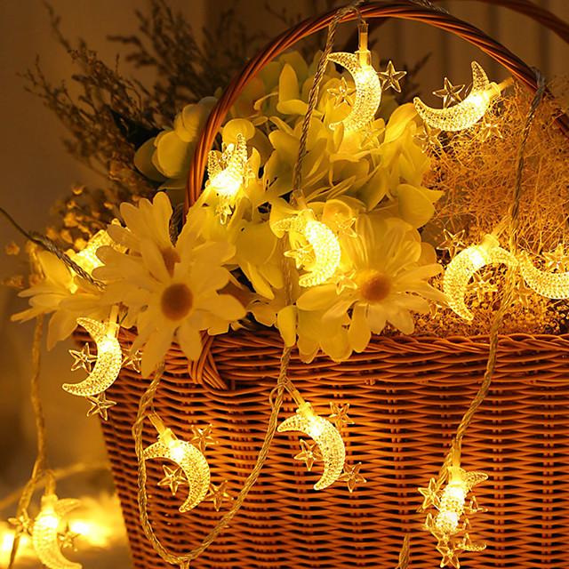 3m 6m ramadan decorațiuni stea lună led șir lumini eid mubarak decor pentru acasă islam musulman eveniment petreceri eid al-fitr decor iluminat aa baterie