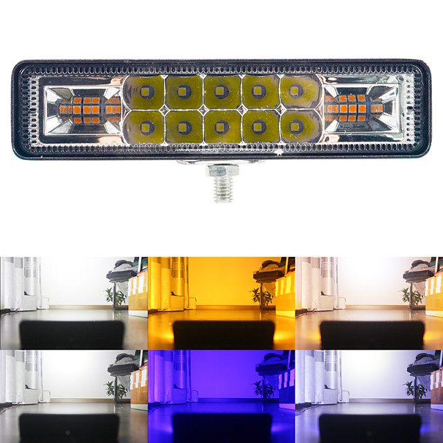 1 pc 48 W LED Barre De Lumière De Travail Stroboscopique Flash 3030 16LEDs Lampe De Travail Pour Offroad 4x4 ATV SUV Moto Remorque Voiture Accessoires 12-30 V