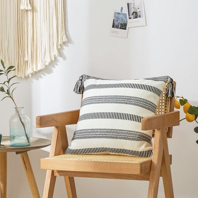 Pillowcase Knitting Jacquard Simplicity Small Refreshing Pillow Case Cover Living Room Bedroom Sofa Cushion Cover
