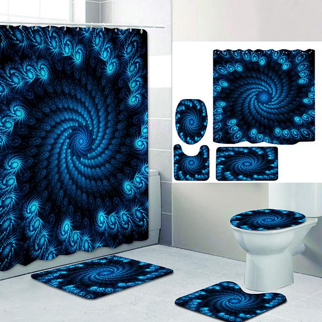 حمام ستارة الحمام ومجموعة الحصير الحديث البوليستر تصميم جديد