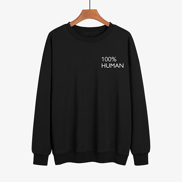 Women's Pullover Sweatshirt Graphic Text Print Daily Casual Hoodies Sweatshirts  White Black Red