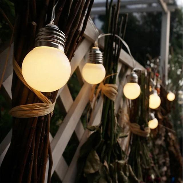 led retro globe festoon bulb 1.5m 3m ball string light outdoor led outdoor lights for wedding garden decor vacances guirlande string light aa batterie power