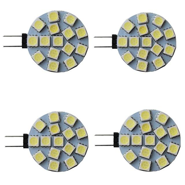 4 pièces 3 W LED à Double Broches 300 lm G4 15 Perles LED SMD 5050 Blanc Chaud Blanc Naturel Blanc 9-30 V