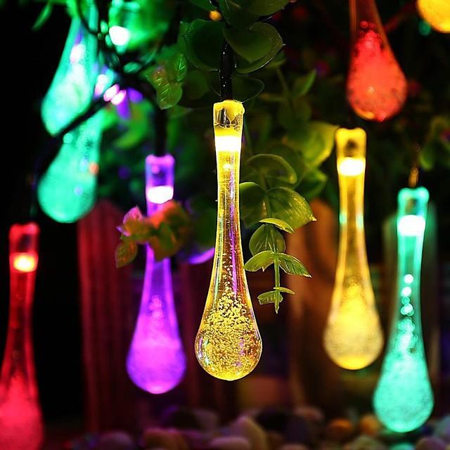 guirlande lumineuse à led 5m 20 leds blanc chaud multicolore noël nouvel an fête extérieure décorative 2 v