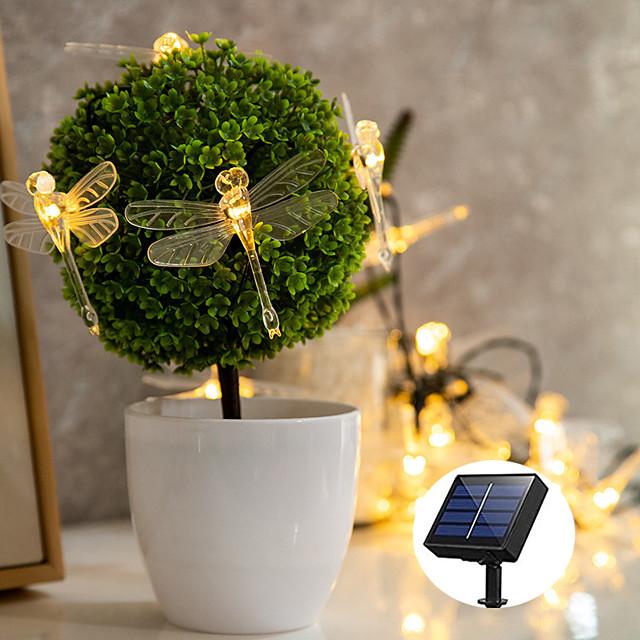 vanjsko solarno svjetlo za žice solarno napajanje led svjetlo za žice vanjska svjetiljka 5m 20leds vanjsko vodonepropusno vretenca vrt dvorište travnjak zabavno ukrašavanje toplo bijela rasvjeta ip68