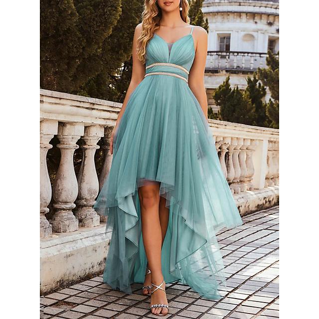Women's A Line Dress Maxi long Dress Dusty Blue Sleeveless Solid Color Spring Summer Elegant Vintage 2021 S M L XL XXL 3XL 4XL