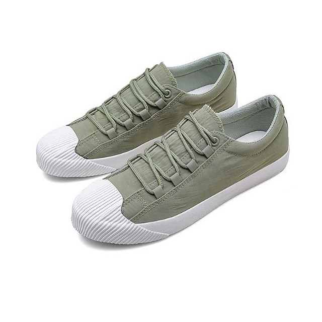 Men's Sneakers Casual Daily Walking Shoes Nylon Breathable Non-slipping Wear Proof Black Khaki Green Fall Spring
