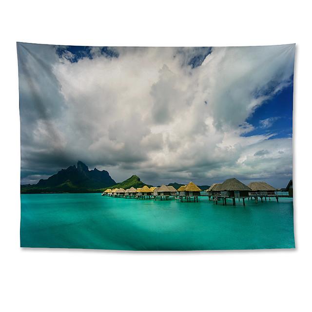 Wall Tapestry Art Decor Blanket Curtain Hanging Home Bedroom Living Room  Polyester Bora Bora landscape