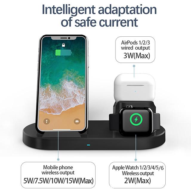 Sortie d'usine 15 W Puissance de sortie Chargeurs sans fil 3 en 1 Station de recharge sans fil Kit Chargeur RoHs CE FCC Pour Apple iPhone 12 11 pro SE X XS XR 8 Samsung Glaxy S21 Ultra S20 Plus S10