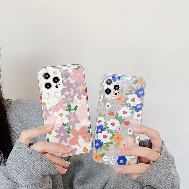 Floral Case For Apple iPhone 12 11 SE2020 Shockproof Protective Case TPU Back Cover for iPhone 12 Pro Max XR XS Max iPhone 8 7
