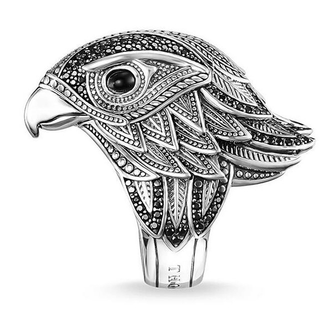 Ring Silver Alloy Owl 1pc 7 8 9 10 11 / Men's
