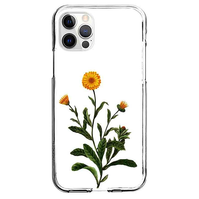 Plants Floral Botanical Case For Apple iPhone 12 iPhone 11 iPhone 12 Pro Max Unique Design Protective Case Pattern Back Cover TPU