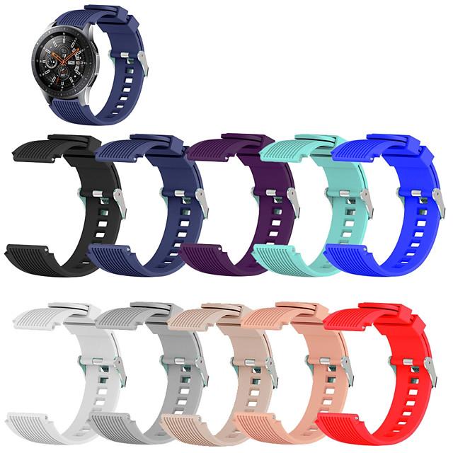 Cinturino intelligente per Samsung Galaxy 1 pcs Cinturino sportivo Silicone Sostituzione Custodia con cinturino a strappo per Gear S3 Frontier Gear S3 Classic Gear 2 R380 Gear 2 Neo R381 Gear Live