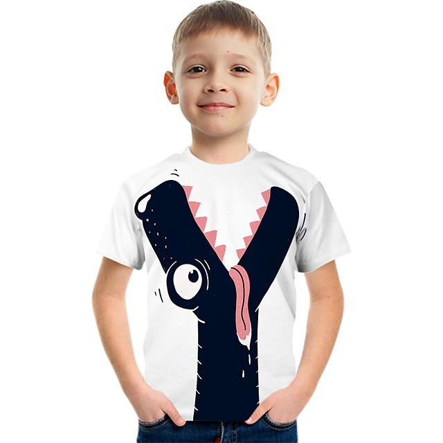 Kids Boys' Tee Short Sleeve Graphic Children Tops Active White 3-12 Years