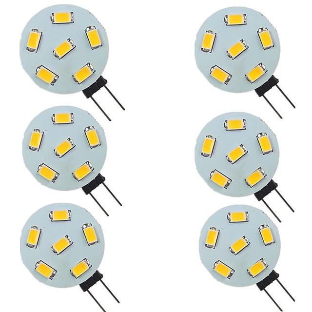 6 pièces 2 W LED à Double Broches 200 lm G4 6 Perles LED SMD 5730 Blanc Chaud Blanc Naturel Blanc 9-30 V