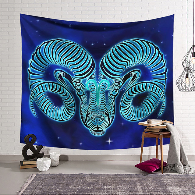 Wall Tapestry Art Decor Blanket Curtain Hanging Home Bedroom Living Room Decoration Polyester Antelope Head