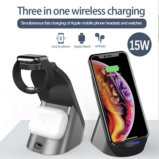 LITBest 2/3/5/7.5/10/15 W Potenza di uscita Caricabatterie wireless 3 in 1 Stazione di ricarica wireless Caricatore senza fili Kit caricabatterie RoHs CE FCC Per Apple iPhone 12 11 pro SE X XS XR 8