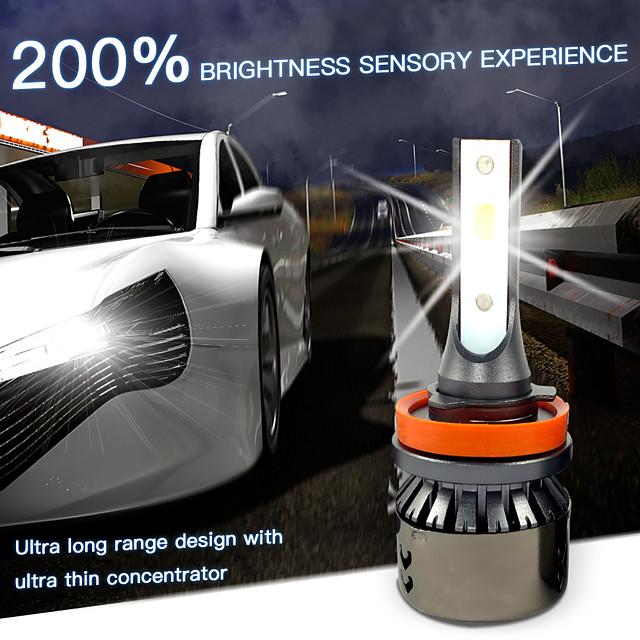 OTOLAMPARA Automatique LED Lampe Frontale / Voiture Canbus Light H7 / H4 / H3 Ampoules électriques 5000 lm LED Haute Performance 55 W 2 Pour Volvo / Volkswagen / Toyota Voyou / Silverado / CR-V 2018