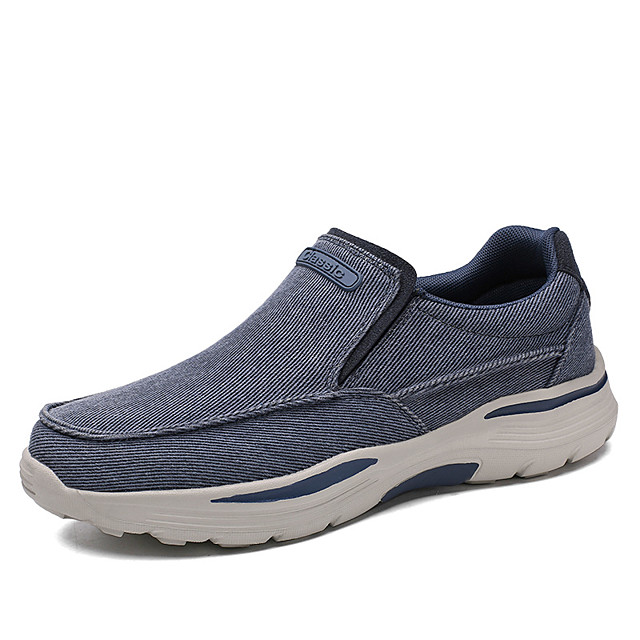 Men's Loafers & Slip-Ons Classic Daily Walking Shoes Canvas Wear Proof Blue Khaki Gray Spring Summer