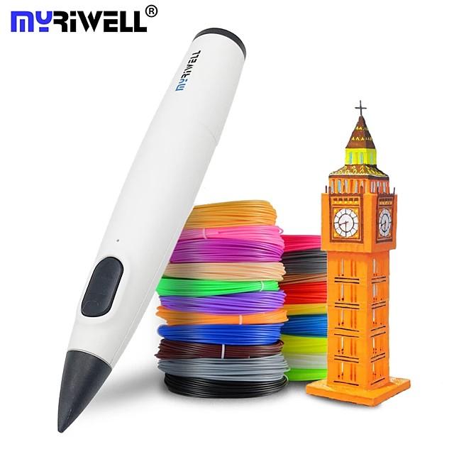 قلم ميريويل ثلاثي الأبعاد درجة حرارة منخفضة قلم طباعة ثلاثي الأبعاد مع خيوط pcl لعبة إبداعية هدية عيد ميلاد للأطفال تصميم الرسم