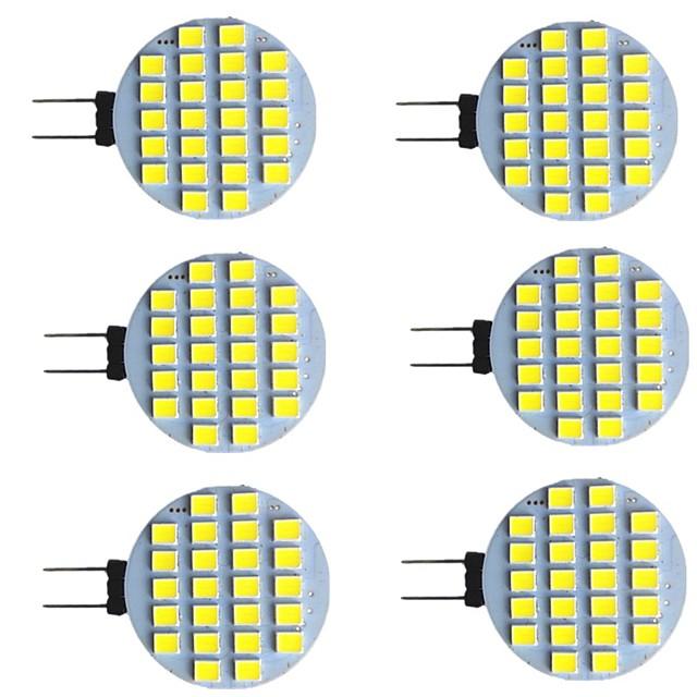 6 pz 2 W Luci LED Bi-pin 280 lm G4 24 Perline LED SMD 2835 Bianco caldo Bianco 9-30 V