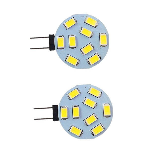 2 pièces 2 W LED à Double Broches 260 lm G4 9 Perles LED SMD 5730 Blanc Chaud Blanc Naturel Blanc 9-30 V