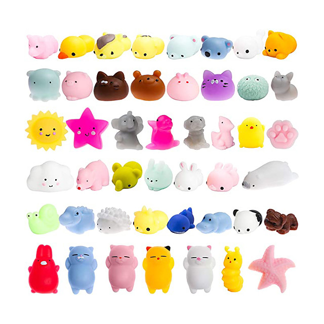 Squishy Squishies Squishy Toy Squeeze Toy / Sensory Toy 40 pcs Mini Animal Stress and Anxiety Relief Kawaii Mochi For Kid's Adults' Boys and Girls