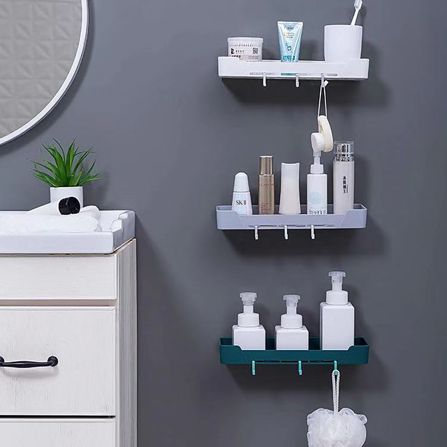 Tools / Hooks Washable / Self-adhesive / Storage Modern Contemporary Mixed Material 3pcs - tools Bath Organization