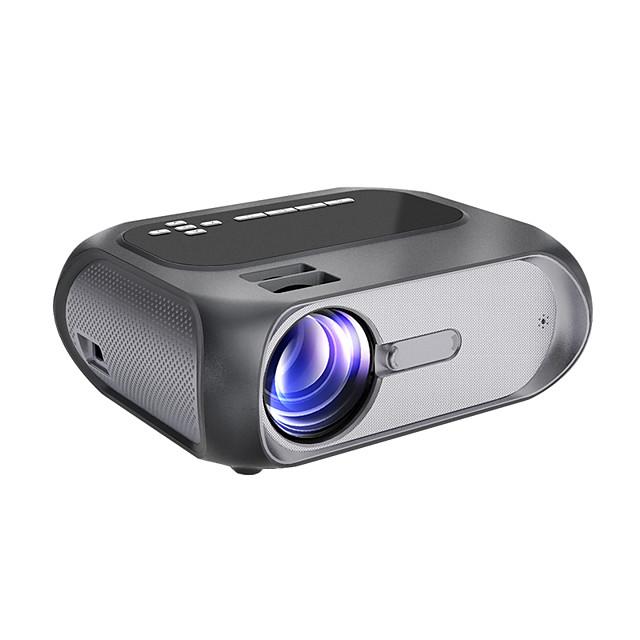 projecteur hd 1080p natif 1280x720p mini projecteur wi-fi 150 ansi lumen luminosité projecteur de cinéma extérieur portable mise en miroir sans fil par câble wifi / usb pour android / ordinateurs portables / fenêtres