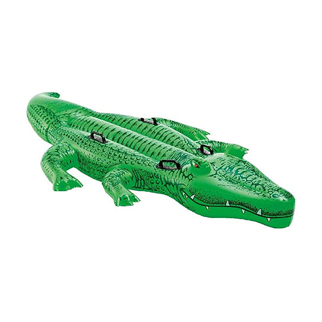 Inflatable Pool Float Lounge Raft Giant PVC / Vinyl Crocodile Water fun Party Favor Summer Beach Swimming 1 pcs Boys and Girls Kid's Adults'