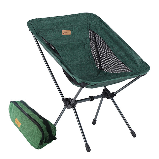 Beach Chair Camping Chair Portable Ultra Light (UL) Foldable Washable Aluminum Alloy Oxford for 1 person Fishing Camping Camping / Hiking / Caving Outdoor Autumn / Fall Spring Dark Green