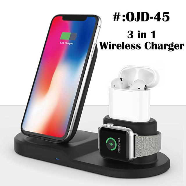 Chargeurs sans fil 3 en 1 Chargeur Sans Fil Pour Apple iPhone 12 11 pro SE X XS XR 8 Universel Chargeur Sans Fil