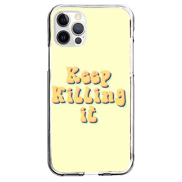 Letter Case For Apple iPhone 12 iPhone 11 iPhone 12 Pro Max Unique Design Protective Case Pattern Back Cover TPU