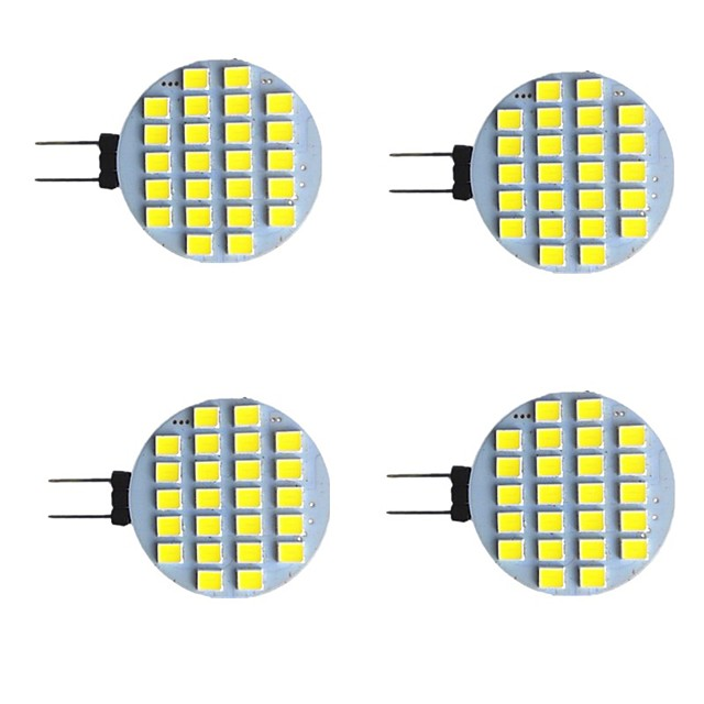 4 pièces 2 W LED à Double Broches 280 lm G4 24 Perles LED SMD 2835 Blanc Chaud Blanc 9-30 V