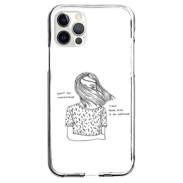 Creativo Caratteri Astuccio Per Mela iPhone 12 iPhone 11 iPhone 12 Pro Max Design unico Custodia protettiva Fantasia / disegno Per retro TPU